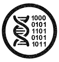 Genetical Code Rounded Grainy Icon vector image vector image