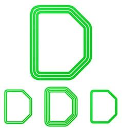 Green letter d logo design set vector