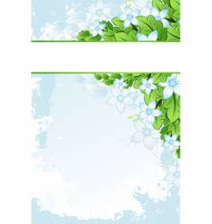 grunge flowers frame vector image vector image