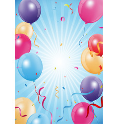 Happy birthday and celebration poster vector