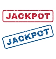 Jackpot rubber stamps vector