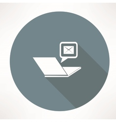 laptop and mail icon vector image
