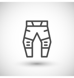 Motorcycle pants line icon vector image