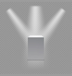 Museum pedestal white empty 3d podium and vector