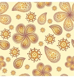 Ornamental colored seamless floral pattern with vector image