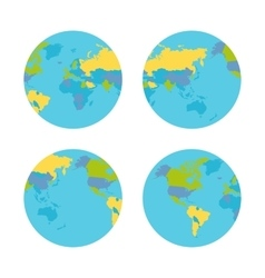 Planet Earth with Countries vector image vector image