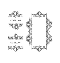 Retro Frame with Place for Text Vintage Decoration vector image vector image