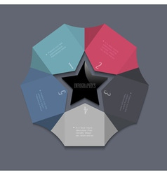 Stylized star design template for infographics vector image vector image