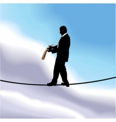 tightrope businessman vector image vector image