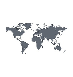 world map theme vector image vector image