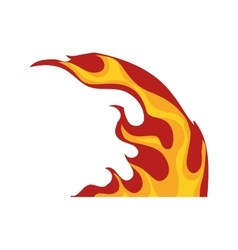 Flame fire hot curve icon graphic vector