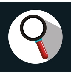 Search loupe find design vector