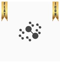 Molecule atom icons vector image
