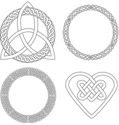4 Celtic patterns vector image