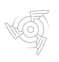 Aviation emblem badge or logo vector