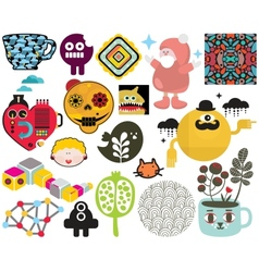 Mix of images and icons vol66 vector