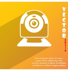 Webcam icon symbol flat modern web design with vector