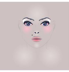 Fashion Girl Face vector image