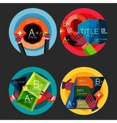 Set of option presentation labels flat design web vector