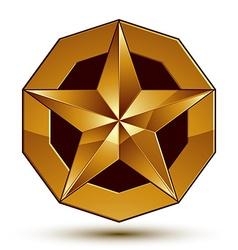 Glorious glossy design element luxury 3d golden vector