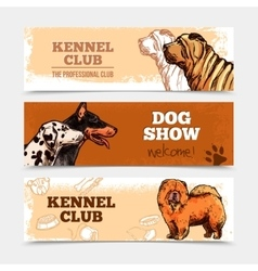 Dogs banners set vector