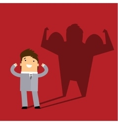 Business man casting a shadow of an athlete vector image