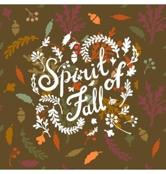 Vignette of autumn leaves vector