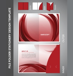 folder template vector image