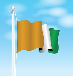 Ivory coast flag vector