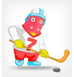 Funny monster hockey vector