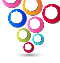 Abstract background with set of multicolor circle vector image