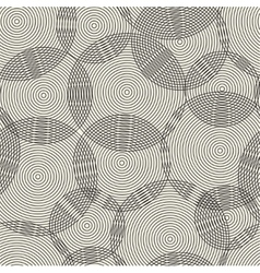 Abstract seamless pattern of rings vector image vector image