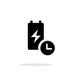 Battery live time simple icon on white background vector