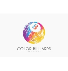 billiard ball logo Billiard logo Color ball logo vector image vector image