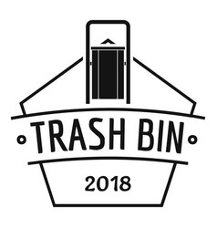 bin trash logo simple black style vector image vector image