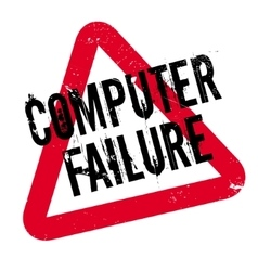 Computer failure rubber stamp vector