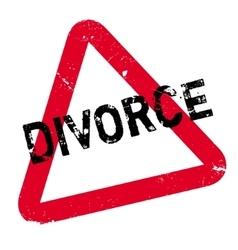 Divorce rubber stamp vector