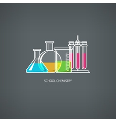 Flasks and beakers vector