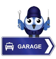 Garage Sign vector image