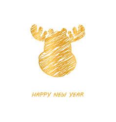 greeting card christmas vector image