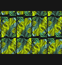 hand drawn abstract tropical seamless vector image vector image