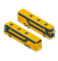 Isometric double decker bus or intercity urban vector