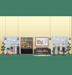 office life concept flat vector image vector image