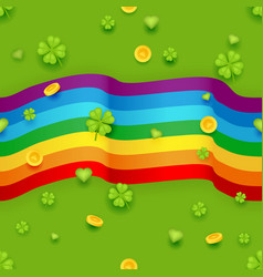 Seamless pattern saint patrick day gold coins vector