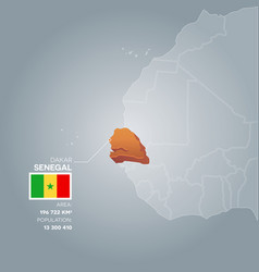 senegal information map vector image vector image