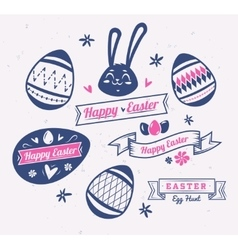 Set of Easter logos and labels cute vector image vector image