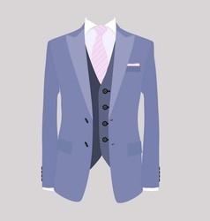 suit pink necktie vector image vector image