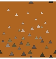 Triangle chaotic brown seamless pattern vector