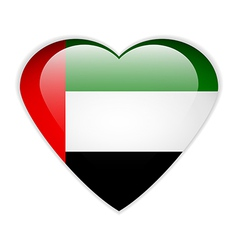 United arab emirates flag button vector