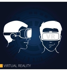 Virtual reality goggles vector image vector image